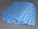 Atlantic Mills 13.5 Inch X 21 Inch Blue Medium Weight Wipe 150 Per Pack - 1 Per Case