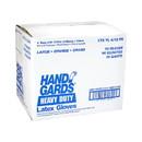 Handgards General Purpose Reusable Yellow Latex Large Glove 12 Pair Per Pack - 4 Per Case