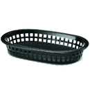 Tablecraft 1073BK Oval Basket Black Pp 8.5X6X1.5