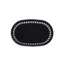 Tablecraft 8.5 Inch X 6 Inch X 1.5 Inch Black Oval Basket 36 Per Pack - 1 Per Case