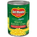 Del Monte 2001421 Del Monte Golden Sweet No Salt Added Whole Kernel Corn 15.25 ounce Can - 24 Per Case