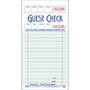 National Checking 3.5 Inch X 6.75 Inch 1 Part Green 16 Line Guest Check 50 Per Book - 10 Per Pack - 5 Per Case