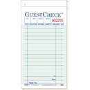 National Checking 3.5 Inch X 6.75 Inch 2 Part Green Carbon 16 Line Guest Check 50 Per Book - 10 Per Pack - 5 Per Case