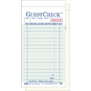 National Checking 3.5 Inch X 6.75 Inch 2 Part Carbonless Green Guest Check 50 Per Book - 10 Per Pack - 5 Per Case
