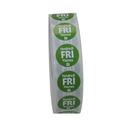 National Checking .75 Inch Circle Trilingual Permanent Green Friday Label 2000 Per Roll - 1 Per Case