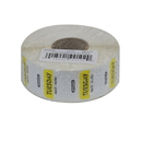 National Checking 1 Inch X 1 Inch Trilingual Yellow Tuesday Permanent Label 1000 Per Roll - 1 Per Case