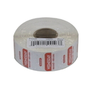 National Checking 1 Inch X 1 Inch Trilingual Red Wednesday Permanent Label 1000 Per Roll - 1 Per Case