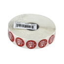 National Checking .75 Inch Circle Trilingual Removable Red Wednesday Label 2000 Per Roll - 1 Per Case