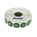 National Checking .75 Inch Circle Trilingual Removable Green Friday Label 2000 Per Roll - 1 Per Case