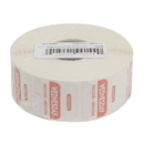 National Checking 1 Inch X 1 Inch Trilingual Red Wednesday Dissolvable Label 1000 Per Roll - 1 Per Case