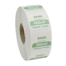 National Checking 1 Inch X 1 Inch Trilingual Green Friday Dissolvable Label 1000 Per Roll - 1 Per Case