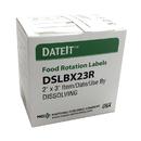 National Checking 2 Inch X 3 Inch Shelf Life Dissolvable Label Box 250 Per Case