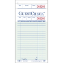 National Checking 3.5 Inch X 6.75 Inch 1 Part Green 19 Line Guest Check 50 Per Book - 10 Per Pack - 5 Per Case