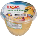 Dole In 100% Juice Mixed Fruit 7 Ounce Plastic Bowl - 12 Per Case