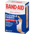 Band Aid Flexible Fabric Comfortable All One Size Bandages 30 Bandages - 6 Per Pack - 4 Packs Per Case