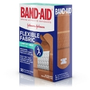 Band Aid Assorted Flexible Fabric Band-Aids 30 Count - 6 Per Pack - 4 Per Case