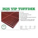 Floor Mat Rubber 3X5 Vip Tuffdeck Red 1-1 Count