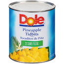 Dole Pineapple Tidbits In Light Syrup 106 Ounces - 6 Per Case