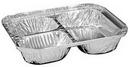 Handi-Foil 2045-35-500 Oblong Pan 3 Compartment Tray