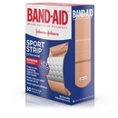 Band-Aid Cushion-Care Sport Strip Extra Wide Bandage 30 Per Pack - 6 Per Box - 4 Per Case