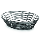 Tablecraft BK17409 9X6X2.25 Basket Oval Bk Metal