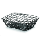 Tablecraft 9 Inch X 6 Inch X 2.5 Inch Rectangle Black Metal Basket 1 Per Pack - 6 Per Case