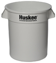 Continental Manufacturing 1001WH Huskee White Plastic 10 Gallon Waste Container 1-1 Each