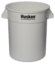 Continental Manufacturing Huskee White 20 Gallon Round Waste Container 1 Per Pack