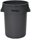 Continental Manufacturing Huskee Gray Plastic Round Waste Container 1 Per Pack