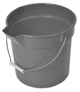 Continental Manufacturing Gray 10 Quart With Spout Plastic Bucket 1 Per Pack