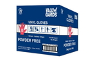 Valugards Powder Free Medium Vinyl Glove Foodservice 1000 Count - 10 Per Case
