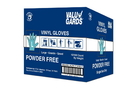 Valugards Large Powder Free Vinyl Glove 1000 Gloves - 10 Per Case