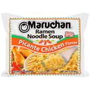 Maruchan Hot & Spicy Picante Chicken Flavored Ramen Noodle Soup 3 Ounces Per Pack - 24 Per Case