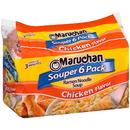 Maruchan Souper 6 Pack Chicken Flavored Ramen Noodle Soup 3 Ounces Per Pack - 6 Per Case
