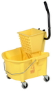Continental Manufacturing Splash Guard Combo Yellow 26 Quart Bucket Wringer 1 Per Pack - 1 Per Case