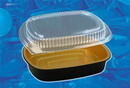 Handi-Foil Gourmet To-Go Medium Entree With Dome Lid Gold Combo 50 Per Pack - 1 Per Case