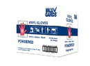Hgi Valugards Powdered Medium Vinyl Glove Foodservice 1000 Per Pack - 10 Packs Per Case