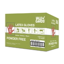 Valugards Medium Powder Free Latex Gloves 100 Gloves - 10 Per Case
