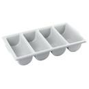 Tablecraft 4 Compartment Plastic Silverware Bin 1 Per Pack
