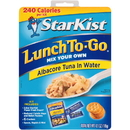 Starkist 495420 Chunk White Packed In Water To Go Kit Pouch 12-4.1 Ounce