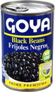 Goya Black Beans Can 15.5 Ounces - 24 Per Case