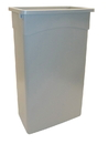 Continental Manufacturing 23 Gallon Gray Wall Hugger Waste Container 1 Per Pack