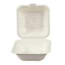 Galligreen 30306 Container Hinged Lid 6 Inch Sugarcane 1-200 Count