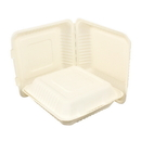 Galligreen 30309 Container Hinged Lid 9 Inch Sugarcane 1-200 Count
