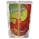 Capri Sun 100% Juice Ready To Drink Fruit Punch Juice 6 Fluid Ounce - 40 Per Case