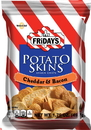 Tgi Friday'S Cheddar & Bacon Potato Skins Snack Chips 1.75 Ounces Per Pack - 55 Per Case