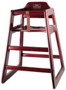 Winco CHH-103 High Chair Stacking Mahogany Non Assembled 1-1 Each