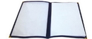 Winco PMCD-9K Menu Cover Double Fold Black 1-25 Each