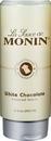 Monin White Chocolate Sauce 12 Fluid Ounce Bottle - 6 Per Case