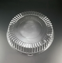 Party Tray EMI-380L 18 Inch Lid Round Clear 1-25 Each